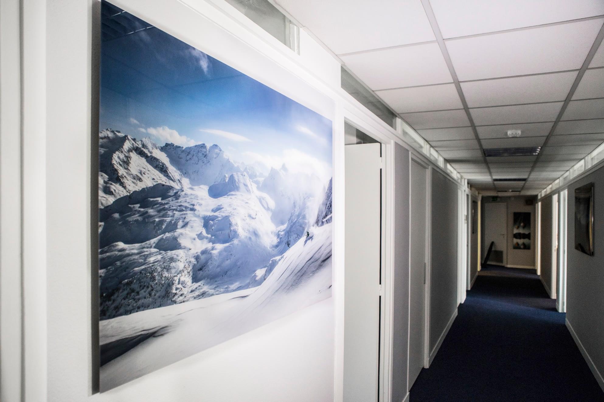Vente et installation de photographies d'art Pixopolitan pour Servyr Assurance