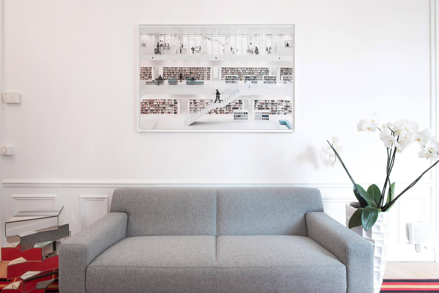 Vente et installation de photographies d'art Pixopolitan pour le cabinet d'avocats indépendants Villey Girard Groelleaud.