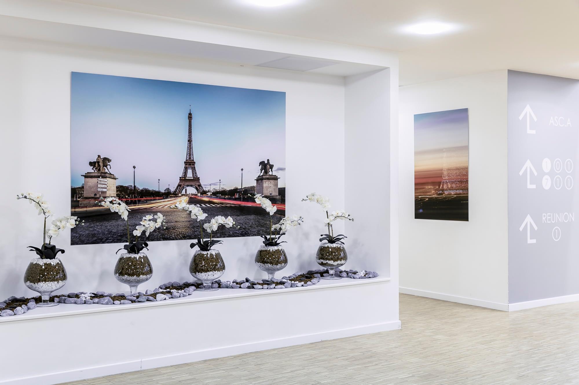 Vente et installation de photographies d'art Pixopolitan pour la résidence hôtelière Saint Ouen